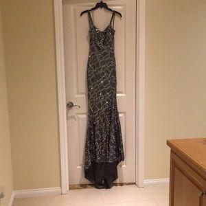 Beautiful long silver dress
